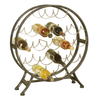 1211 | Round Metal Wine Holder