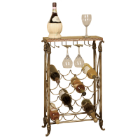2152 | Metal & Black granite top wine rack