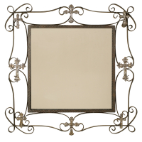 2338 | Square Wall Mirror with decorative crosses