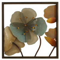 2623 | Metal framed wall décor with acrylic flowers