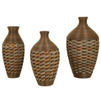 2626 | Set of 3 Wicker Vases