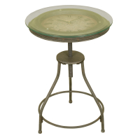 1212 | Inlaid Clock Accent Table