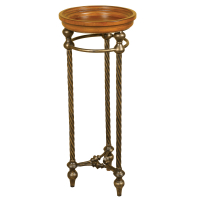 2114 | Metal and Wood Plant Stand