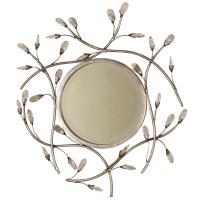 2118   Round Jeweled Mirror