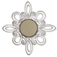 2444   Scrolled Metal Wall Mirror