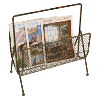 2452 | Distressed Wire Magazine Rack