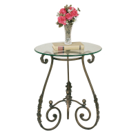 2560BR | Round Leaf Side Table