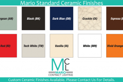 Mario Standard Ceramic Finishes
