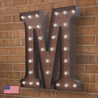 "CW5918 | Alphabet Wall Sconce ""M""<br><strong> Minimum – 1 Piece</strong>"