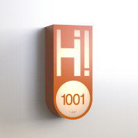 CS6662 | Illuminated Room Number<br><strong> Minimum – 25 Pieces</strong>
