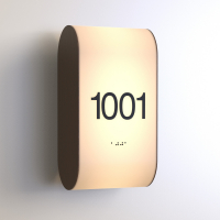 CS6851 | Illuminated Room Number<br><strong> Minimum – 25 Pieces</strong>
